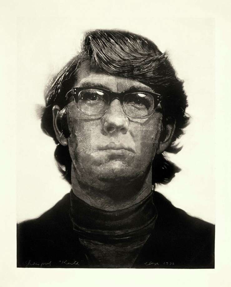 """Keith,"" a 1972 mezzotint, is featured in ""Closer: The Graphic Art of Chuck Close"" through Jan. 5 in the main galleries of the Bruce Museum in Greenwich. This work is on loan from the Museum of Modern Art, New York. Photo: Contributed Photo"