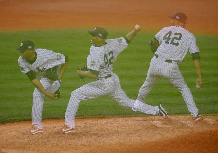 0.70 postseeason ERA (min. 30 IP) - best in MLB history Photo: Rob Tringali/Sportschrome, Getty Images