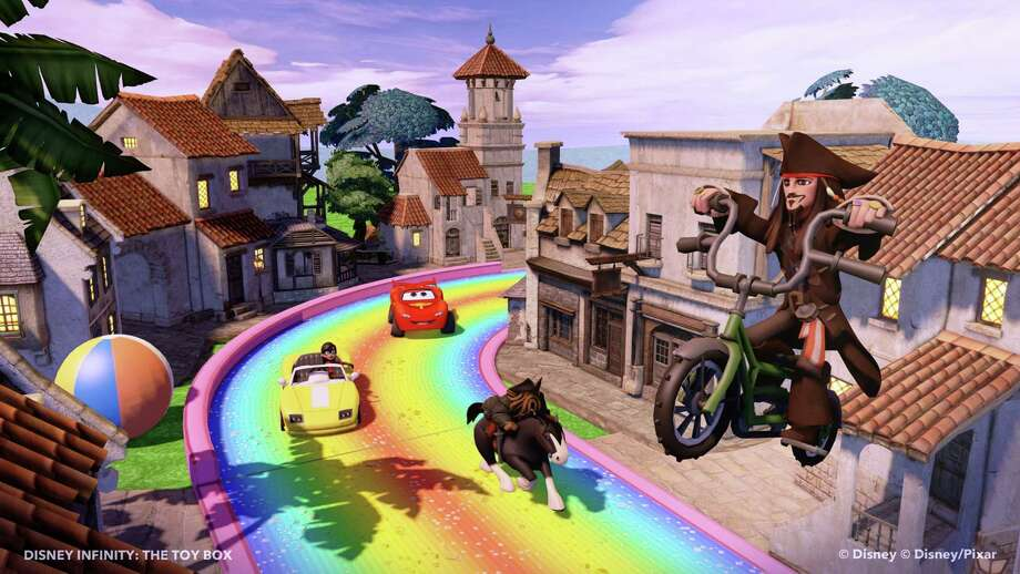"""""""Disney Infinity"""" combines characters from Disney and Pixar in a sandbox platformer that is both entertaining and expensive. It has a story-driven Play Set mode in addition to the Toy Box mode. Photo: Photos Courtesy Of Square Enix"""