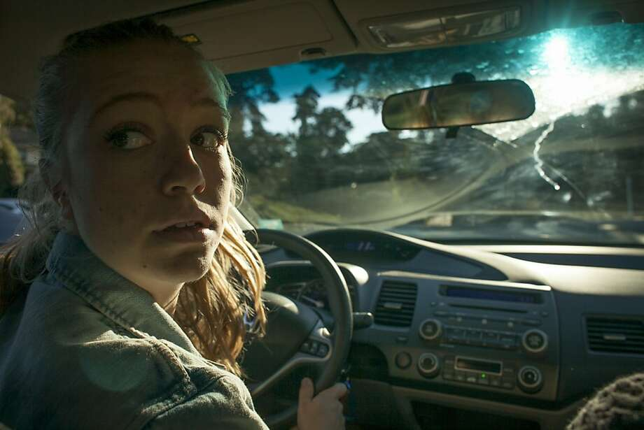 Mariella Sullam, 17, takes a leason from her driving instructor Eugenia Borges through Ann's Driving School in San Francisco on September 27th 2013. Photo: Sam Wolson, Special To The Chronicle