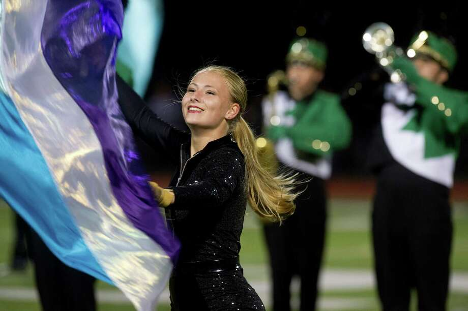 The halftime show during Friday's football game at Norwalk High School on Sept. 27, 2013. Photo: Lindsay Perry / Stamford Advocate