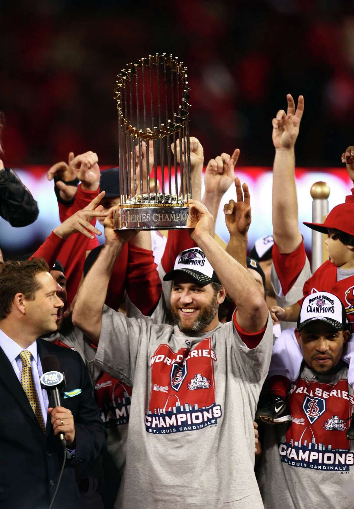 The former New Braunfels Canyon star, rebounding from largely miserable stints with the Astros and Yankees in 2010, enjoyed a remarkable season with the St. Louis Cardinals. His .301 average, 31 home runs, 94 RBIs and sixth All-Star Game appearance helped spearhead the Cardinals' World Series championship and garnered a National League Comeback Player of the Year award.