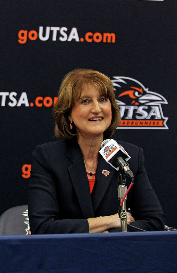 Time will tell if Hickey's decision to fast track her fledgling football program's pursuit of FBS membership was the correct one. But there can be no disputing the amount of daring and effort — as well as some good timing — it took to navigate the many obstacles that arose,  from initially wanting to go independent,  then having that course blocked by the Southland Conference,  and finally with an invitation to join the Western Athletic Conference. As if that wasn't enough,  the women's soccer and volleyball teams earned NCAA tournament berths,  and the men's basketball team is off to a 6-2 start. Photo: TOM REEL, San Antonio Express-News / © 2010 San Antonio Express-News