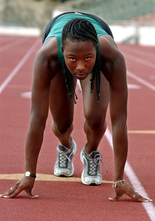 Hooker marked many accomplishments in track and field,  basketball and volleyball at Southwest. She won the 100- and 200-meter dashes at the University Interscholastic League Class 5A Championships and placed second in the long jump after sweeping gold in those three events at the regional and district meets. Hooker finished third in the 100-meter dash at the IAAF World Junior Track and Field Championships in Kingston,  Jamaica. She was also named to the Greater San Antonio Super Team in basketball after averaging 19.3 points,  9.9 rebounds and 3.0 steals last season. Photo: KEVIN GEIL, San Antonio Express-News / SAN ANTONIO EXPRESS-NEWS
