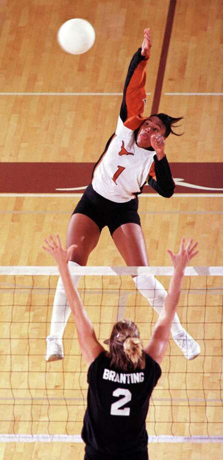 Sance, a Texas freshman, set school records for kills in a season and in a game this year. She was a unanimous All-Southwest Conference selection and second-team All-American. However, her biggest accomplishment was leading the long-shot Longhorns to the NCAA championship game, upsetting Florida in the regional final and Stanford in the semifinal before losing the title game to Nebraska. Photo: Jim Sigmon / University Of Texas At Austin