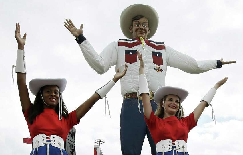 Dallas' Big Tex, the 55 foot tall cowboy at the State Fair grounds, is currently in a competition to see what is the
