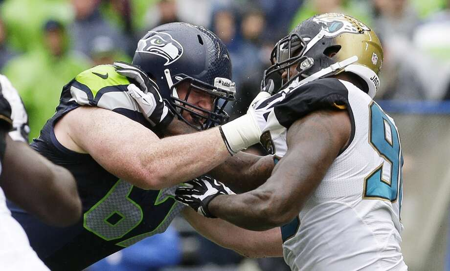 1. Seattle's weak offensive line  This problem has been in our Five Things to Watch lists every week so far, and it's only gotten worse. First the O-line questions were mostly about inexperience, with defensive-tackle-turned-guard J.R. Sweezy beating out John Moffitt (since traded to Denver) for the starting right guard job. Then it was about the uncertain depth, with unproven guard James Carpenter and a few rookies behind the group. But now, in perspective ... those issues were nothing.  Pro-Bowl left tackle Russell Okung is out for seven more weeks (on the injured reserve) after suffering a torn toe ligament during the 49ers victory. Left guard Paul McQuistan (pictured at left) slid over and started at LT last week against Jacksonville, and performed adequately but at nowhere near the same level as Okung. Carpenter moved into McQuistan's old position and played fairly well, but it was hard to make any judgements about Seattle's offensive line against the terrible Jaguars.   Yet the latest developments are the worst for Seattle fans. Right tackle Breno Giacomini got pulled late in the Jags game due to a sore knee, and didn't practice this week; he is listed as doubtful for Sunday, and rookie Michael Bowie would likely get the start. All-Pro center Max Unger was limited in practice, after leaving the Jacksonville game with a sore arm, and is also doubtful. If Unger sits out, Seattle head coach Pete Carroll will likely start backup center Lemuel Jeanpierre, though Seattle just signed another backup center in Jason Spitz. Heck, even Sweezy was limited in practice with a sore back. Carroll said he is comfortable putting rookie linemen Bowie and Alvin Bailey in there, but Seahawks fans would surely rather see the starters. Photo: Ted S. Warren, Associated Press