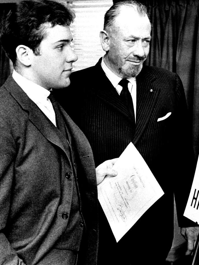 John Steinbeck (right) was inspired listening to people's stories. The artists will try to replicate that on their journey. Photo: AP / AP