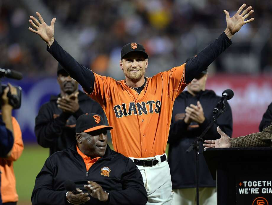 Hunter Pence exults in getting the award in 2013 Photo: Thearon W. Henderson, Getty Images