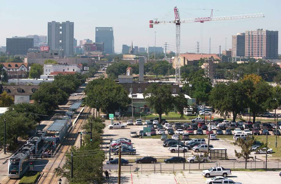 Mid Main, near the Ensemble/Houston Community College rail stop, will include apartments, shops and restaurants. Next door will be an arts and theater center. Photo: Johnny Hanson, Staff / Houston Chronicle