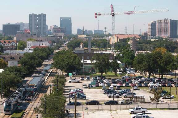 Mid Main, near the Ensemble/Houston Community College rail stop, will include apartments, shops and restaurants. Next door will be an arts and theater center.