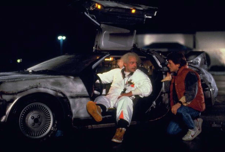 """Here's the original """"Back to the Future"""" DeLorean design. Now check it out as a Transformer. Photo: Universal Pictures"""