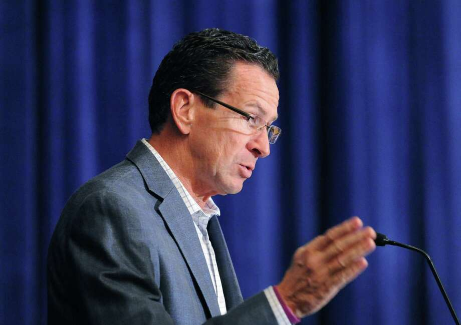Gov. Dannel P. Malloy speaks during the Delta Nu Boule hosting of the Sigma Pi Phi FraternityâÄôs 20th meeting of the Northeast Regional Boule at Hyatt Regency Greenwich, Saturday morning, Sept. 28, 2013. Photo: Bob Luckey / Greenwich Time