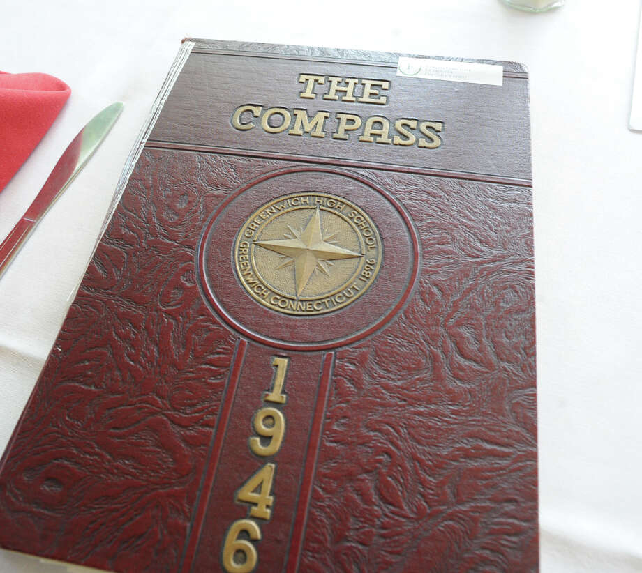 The Compass, the 1946 Greenwich High School yearbook, on display during the 67th reunion of the Greenwich High School Class of 1946 in the Fairways Restaurant at the Griffith E. Harris Memorial Golf Course, Greenwich, Saturday, Sept. 28, 2013. Photo: Bob Luckey / Greenwich Time