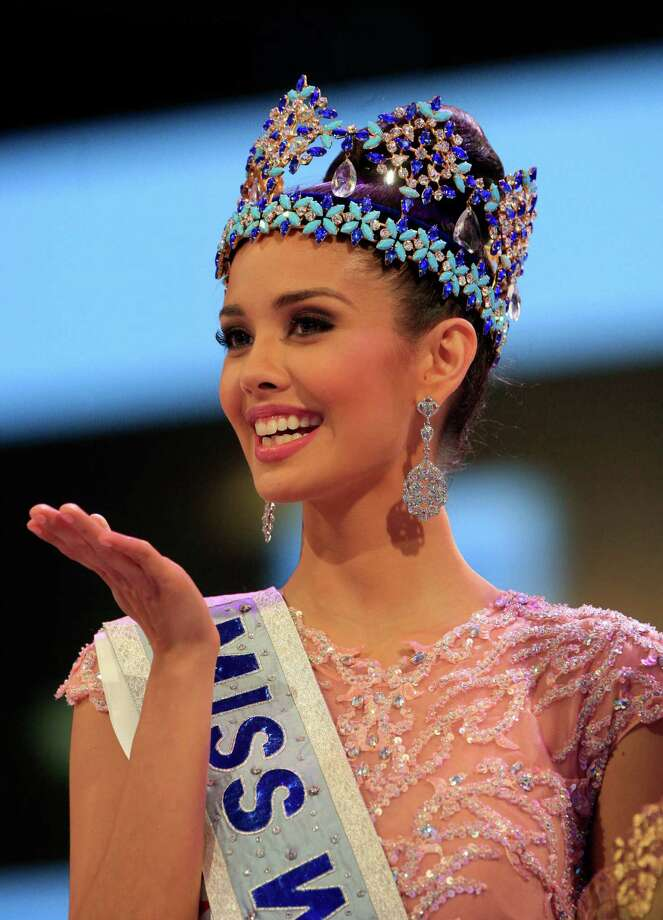 Newly crowned Miss World Megan Young of the Philippines, smiles after winning the Miss World contest, in Nusa Dua, Bali, Indonesia, on Saturday. Photo: AP