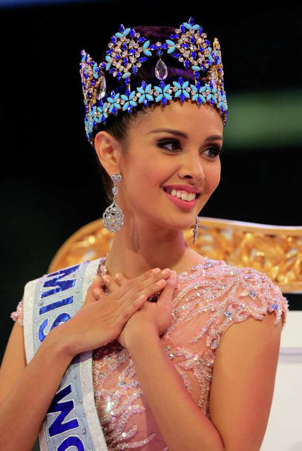 Megan Young of the Philippines smiles after being named Miss World 2013 on Saturday. Photo: AP