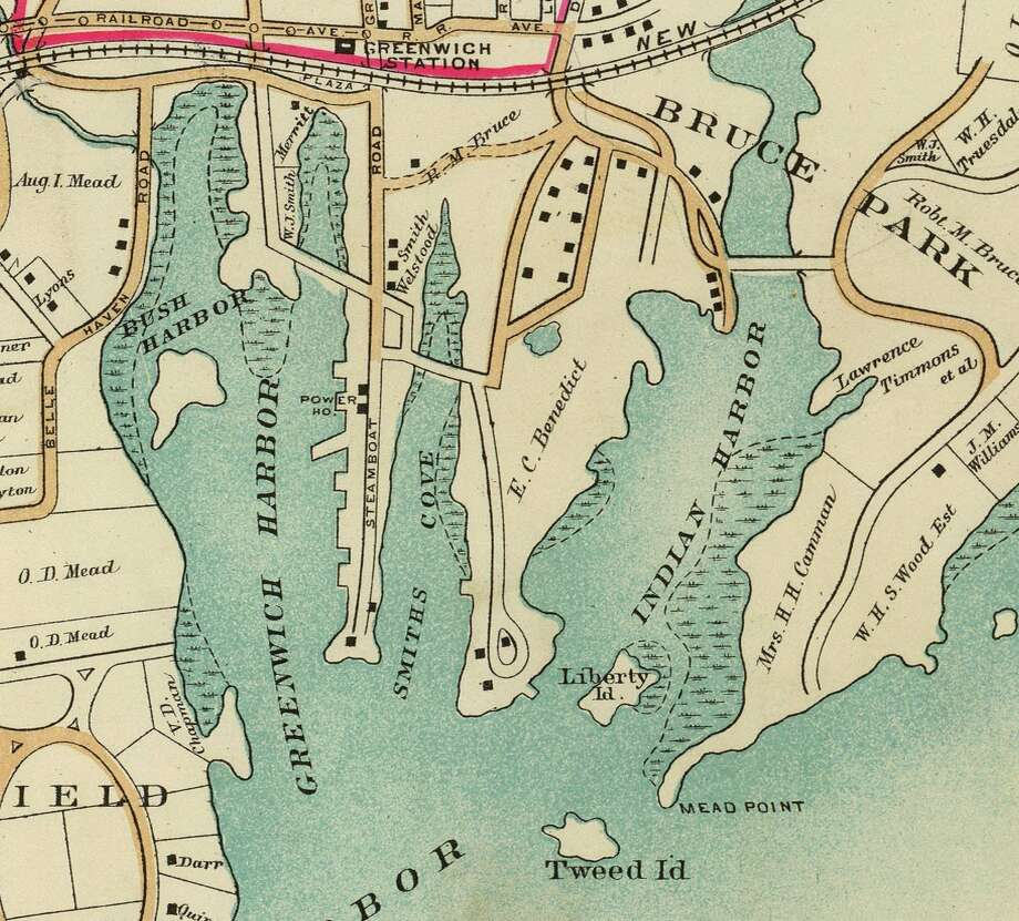 A 1908 map of Indian Harbor. Photo: Contributed Photo / Greenwich Time contributed