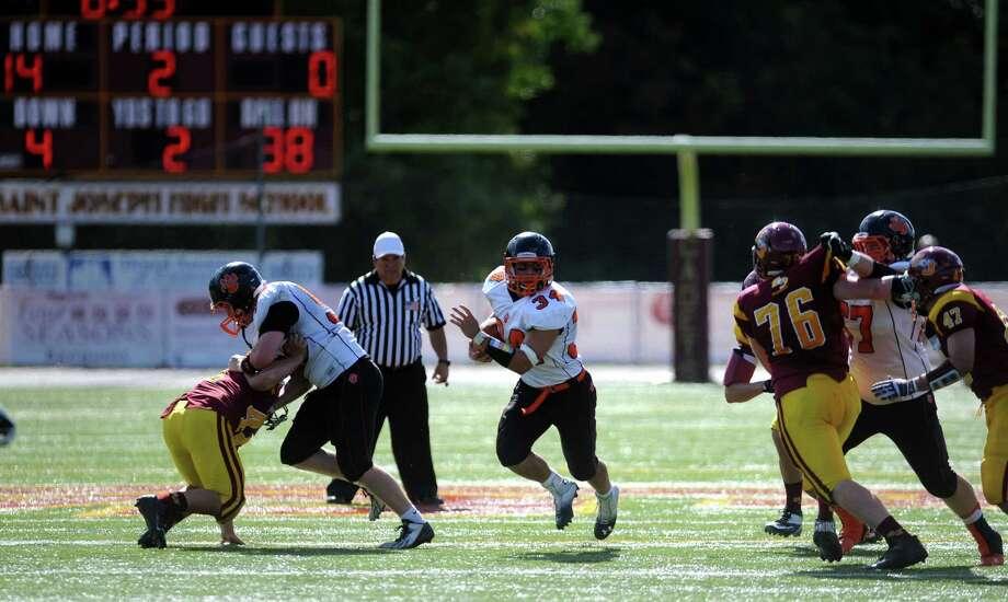 St.Joseph football versus Ridgefield Saturday, Sept. 28, 2013 at St. Joseph High School in Trumbull, Conn. Photo: Autumn Driscoll / Connecticut Post