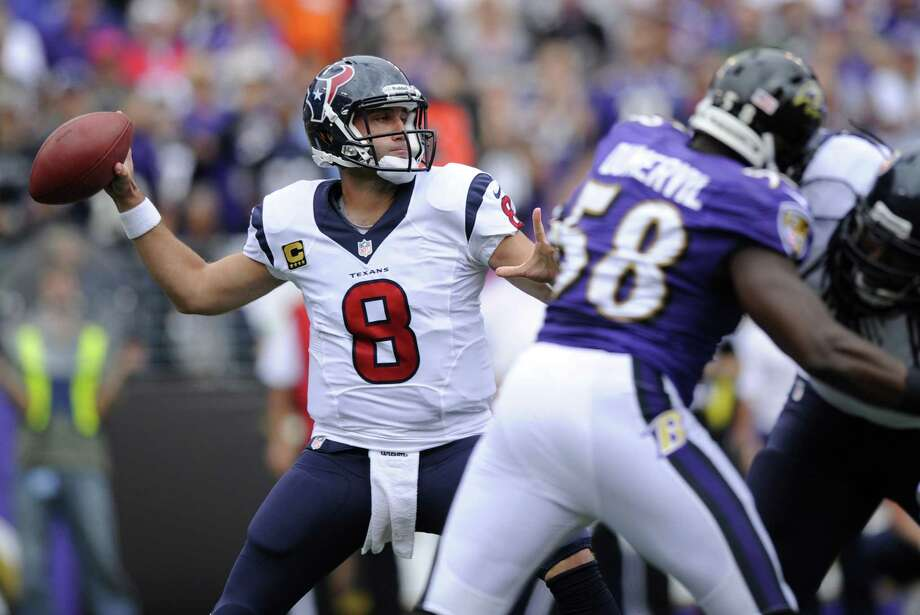 If Texans quarterback Matt Schaub comes out throwing successfully against Seattle, it should open up Houston's running game against the NFL's No. 1 defense. Photo: Nick Wass / Associated Press