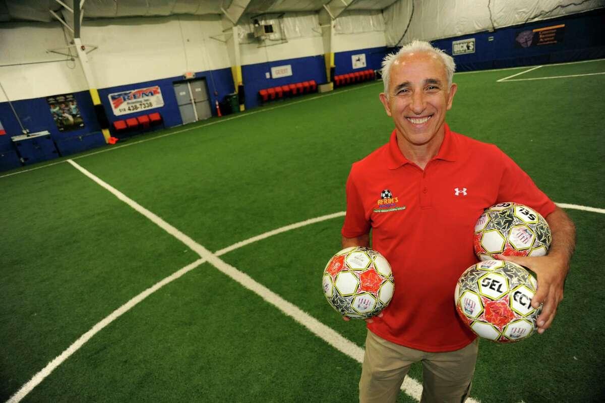 Afrim Nezaj on Thursday, Sept. 26, 2013, at Afrim's Sports in Colonie, N.Y. (Cindy Schultz / Times Union)