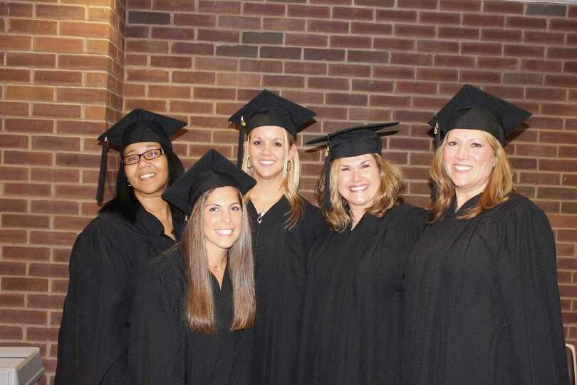 From left, Royal Heather Williams, Deanna Wachtel, Sarah Gardinier, Taryn Woodard and Marsha Fortney