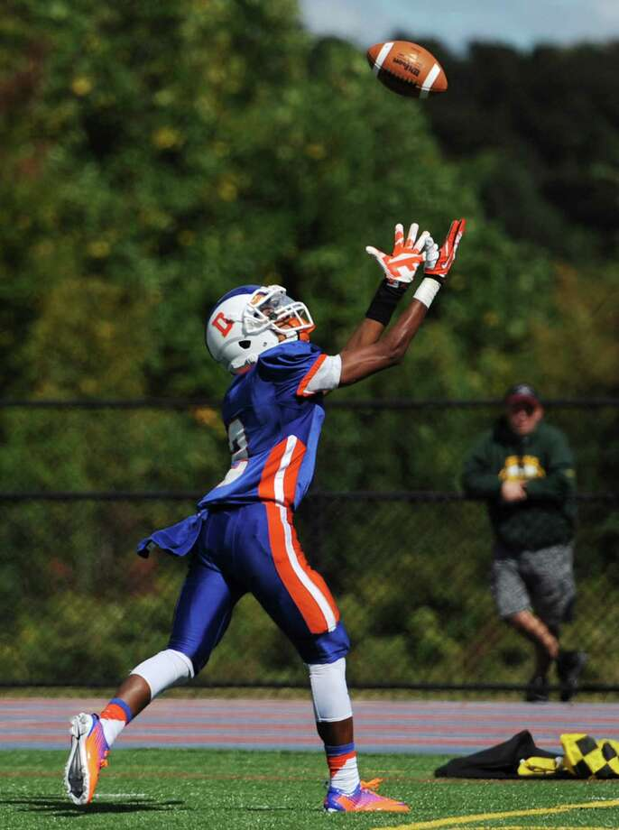 Photos from the FCIAC high school football game between Danbury and Brien McMahon at Danbury High School in Danbury, Conn. on Tuesday, Sept. 24, 2013.  Brien McMahon defeated Danbury, 21-7. Photo: Tyler Sizemore / The News-Times