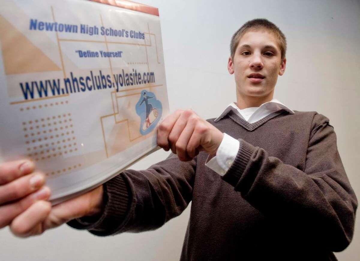 Shane Wurtz, a senior, designed a website