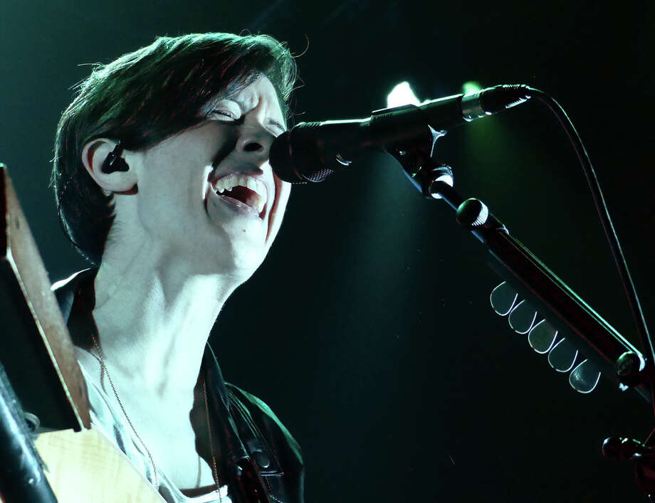 Tegan and Sara perform at the Webster Bank Arena in Bridgeport, Conn. on Saturday September 28, 2013. Fun, who won the Grammy Awards for Best New Artist and Song of the Year, were the headlining act. Photo: Christian Abraham / Connecticut Post