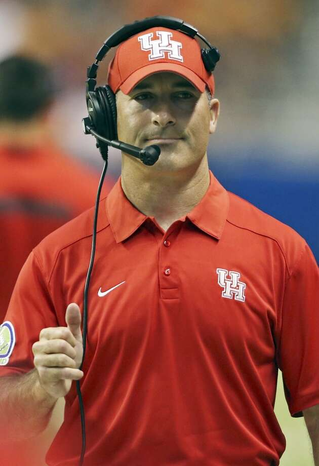 University of Houston's head coach Tony Levine walks the sidelines during first half action against UTSA Saturday Sept. 28, 2013 at the Alamodome. Photo: San Antonio Express-News