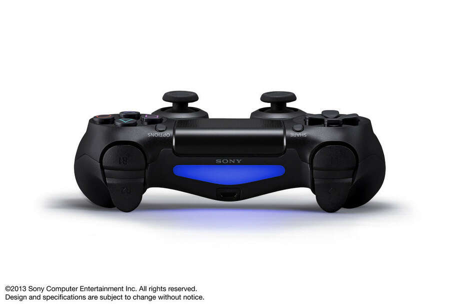Here's a close-up shot of the Dualshock 4 controller for the Sony PlayStation 4. Photo: Sony