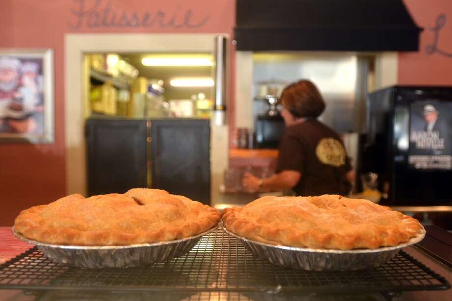 Two fresh apple pies cool on the counter at Lucy's Cafe & Bakery in Orange. Photographed Sept. 17, 2013. Photo: Cat5