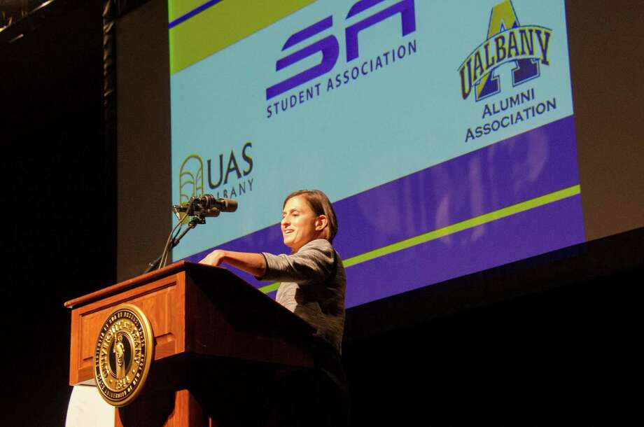 Were you Seen at the World Within Reach Speaker Series with David Axelrod, David Plouffe and Jon Favreau at SEFCU Arena at UAlbany on Saturday, Sept. 28, 2013? Photo: Mark Schmidt
