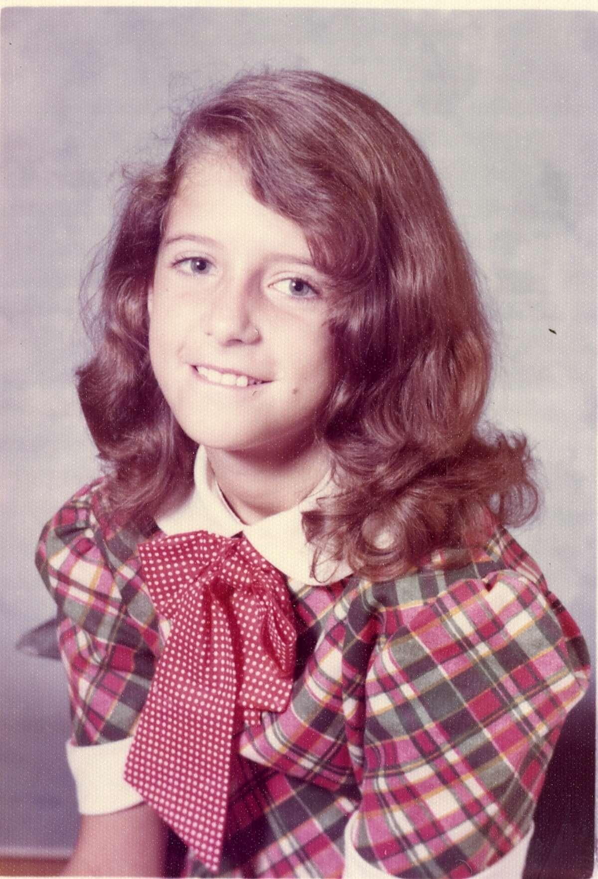 Wendy Davis as a child in grade school.