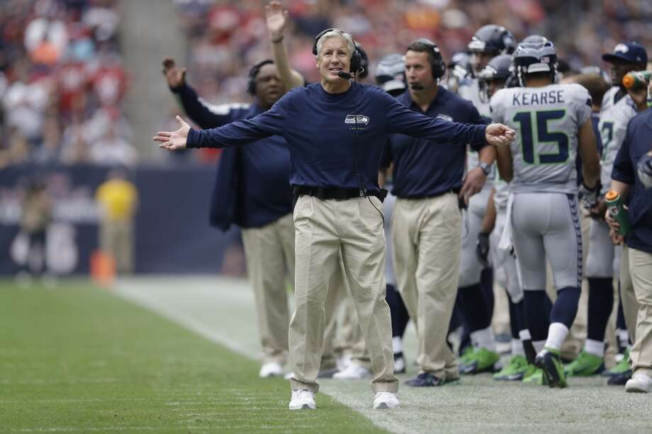 Seattle Seahawks head coach Pete Carroll watches from the sidelines during the first quarter an NFL football game against the Houston Texans Sunday, Sept. 29, 2013, in Houston. Photo: David J. Phillip, Associated Press