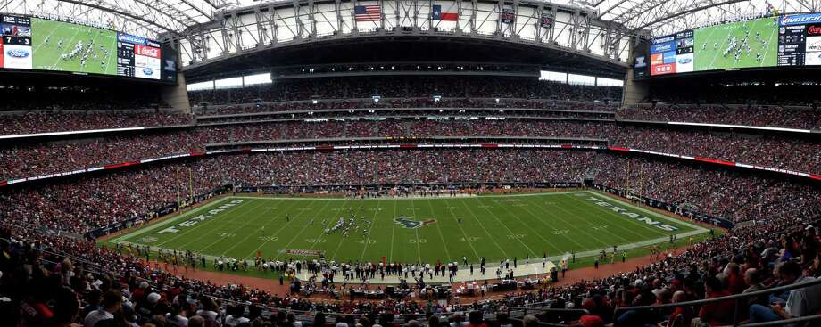 In this image combining several images into one, Reliant Stadium is shown during the second quarter an NFL football game between the Seattle Seahawks and Houston Texans Sunday, Sept. 29, 2013, in Houston. (AP Photo/David J. Phillip) Photo: David J. Phillip, Associated Press / AP