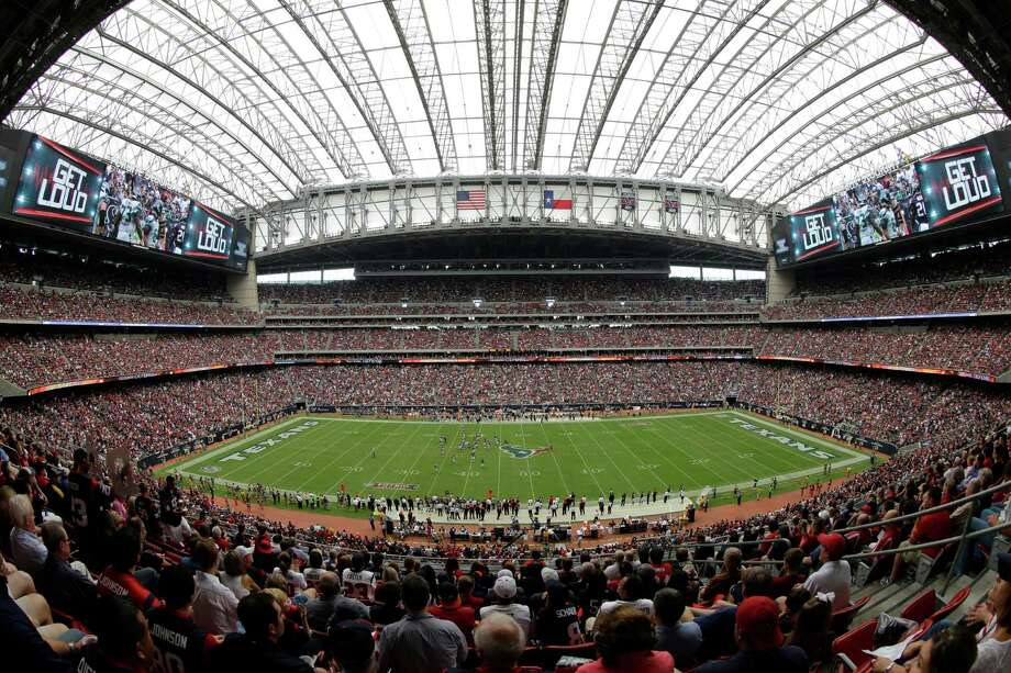 Reliant stadium is seen during the second quarter an NFL football game between the Seattle Seahawks and Houston Texans, Sunday, Sept. 29, 2013, in Houston. (AP Photo/David J. Phillip) Photo: David J. Phillip, Associated Press / AP