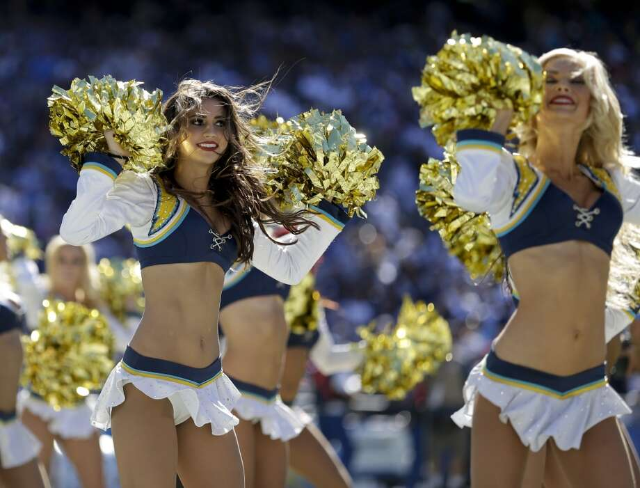 San Diego Chargers cheerleaders perform during the second half of an NFL football game against the Dallas Cowboys Sunday, Sept. 29, 2013, in San Diego. (AP Photo/Gregory Bull) Photo: Associated Press
