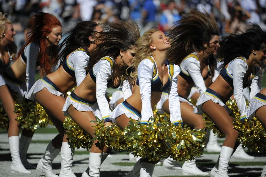 San Diego Chargers chreeleaders perform during the first half of an NFL football game against the Dallas Cowboys Sunday, Sept. 29, 2013, in San Diego. (AP Photo/Denis Poroy) Photo: Associated Press