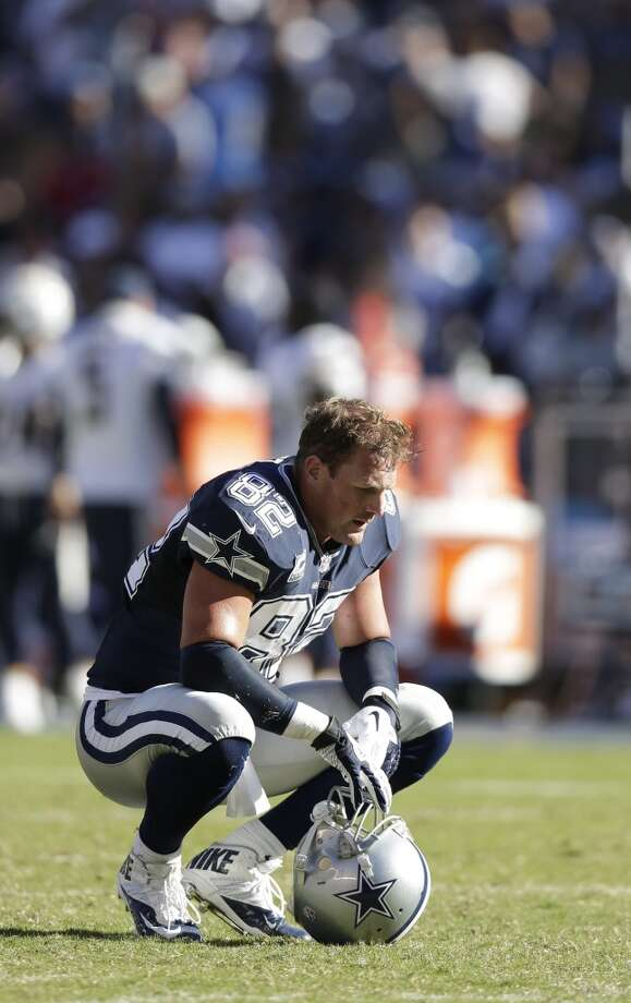 Dallas Cowboys tight end Jason Witten sits on the filed after their loss to the San Diego Chargers during an NFL football game Sunday, Sept. 29, 2013, in San Diego. (AP Photo/Gregory Bull) Photo: Associated Press