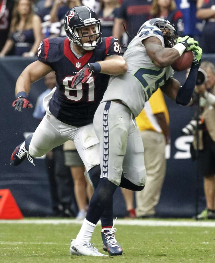 Week 4: Seahawks 23, Texans 20 (OT)  Seahawks cornerback Richard Sherman intercepts a Matt Shaub pass and returns it for a touchdown. Photo: Cody Duty, Houston Chronicle