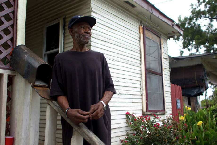 Bobby Norman, 67, who said he's lived in the First Ward for about 50 years, said he's not happy with the changes in the neighborhood Friday, Sept. 27, 2013, in Houston. 