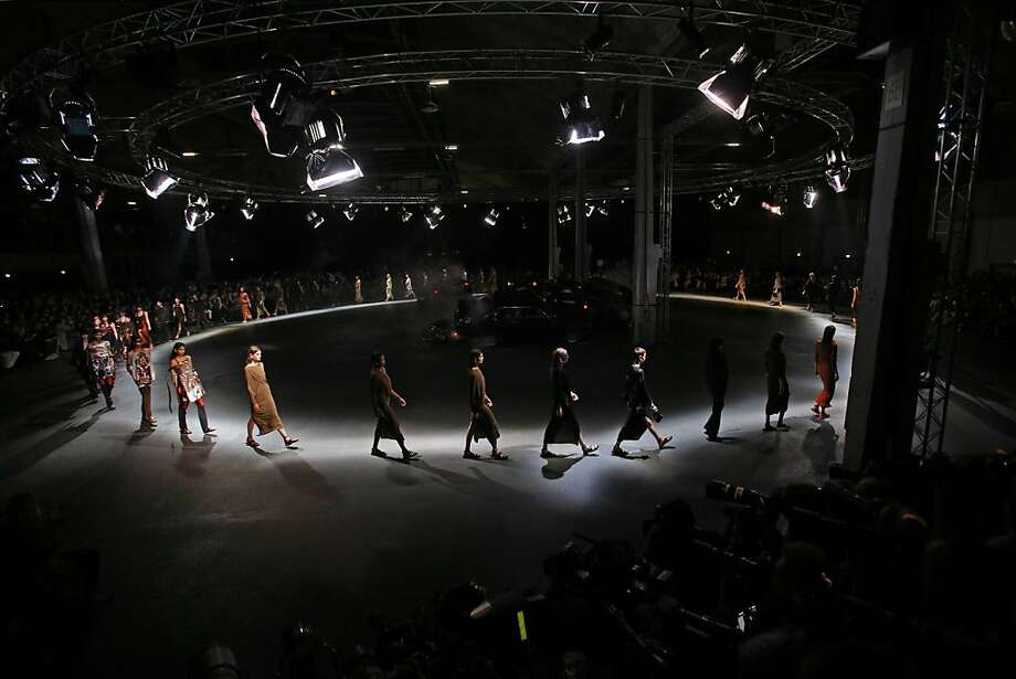 Models present creations as part of Givenchy's ready-to-wear Spring/Summer 2014 fashion collection, presented Sunday, Sept. 29, 2013 in Paris. (AP Photo/Christophe Ena) Photo: Christophe Ena, Associated Press