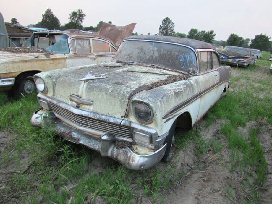 1956 Chevrolet Belair 2 door sedan (72,477 miles) -> sold for $14,500