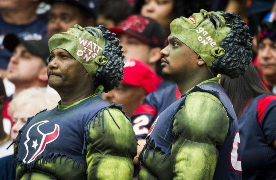 Texans fans watch during the second half. Photo: Smiley N. Pool, Houston Chronicle