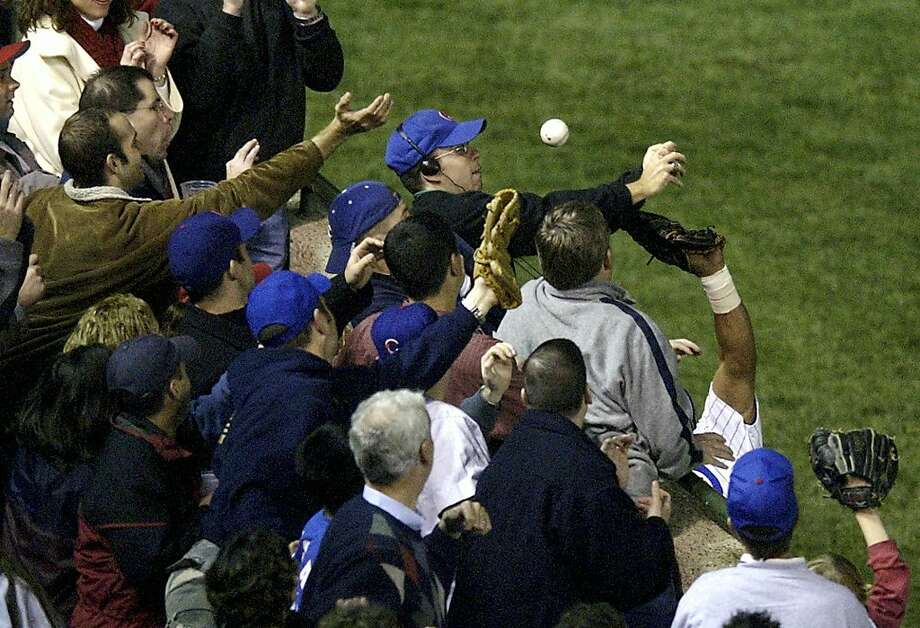 8. The Chicago Cubs blamed poor Steve Bartman, but their undoing came far before the unfortunate Cubs fan interfered with Moises Alou. The Cubs were up 3-1 on the Florida Marlins in the 2003 NLCS but lost Games 5, 6 and 7. The victorious Marlins went on to win the World Series. The Cubs went on to complain about Bartman for the next 10 years. Photo: Morry Gash, AP