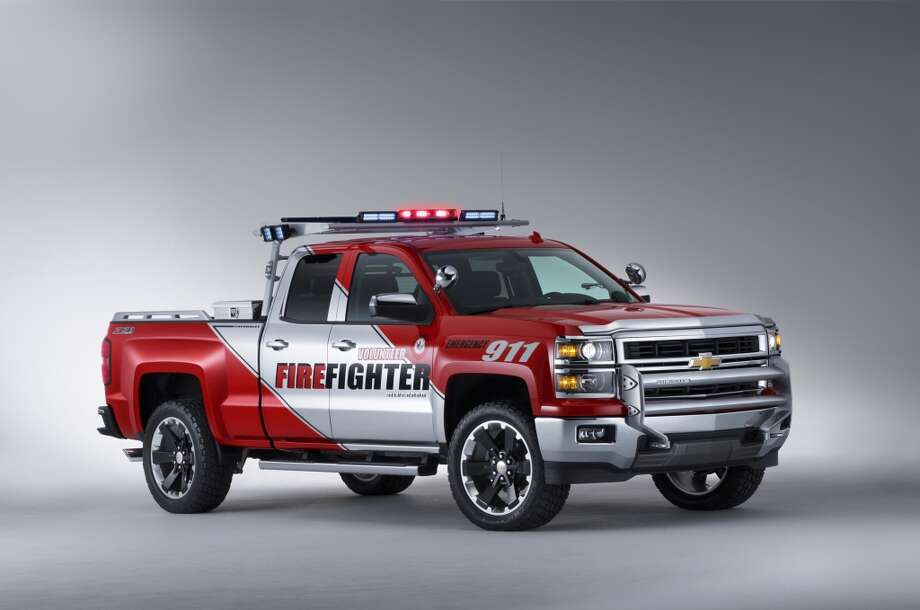 The SEMA concept Volunteer Firefighters Chevrolet Silverado Double Cab, equipped with the Z71 Off Road suspension, was developed with the National Volunteer Fire Council to honor the service of grassroots first responders and share a vision of how the all-new, more capable 2014 Silverado can be pressed into duty.