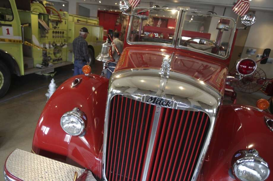 An antique Mack firetruck is displayed at the San Antonio Fire Museum, 801 E. Houston St. Photo: Abbey Oldham, San Antonio Express-News