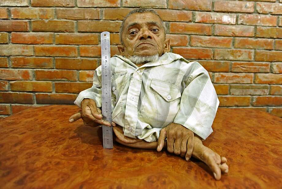 "World's shortest? ""Master Nau,"" a 73-year-old Nepali, claims to be the world's shortest man in the Guinness World Records' 