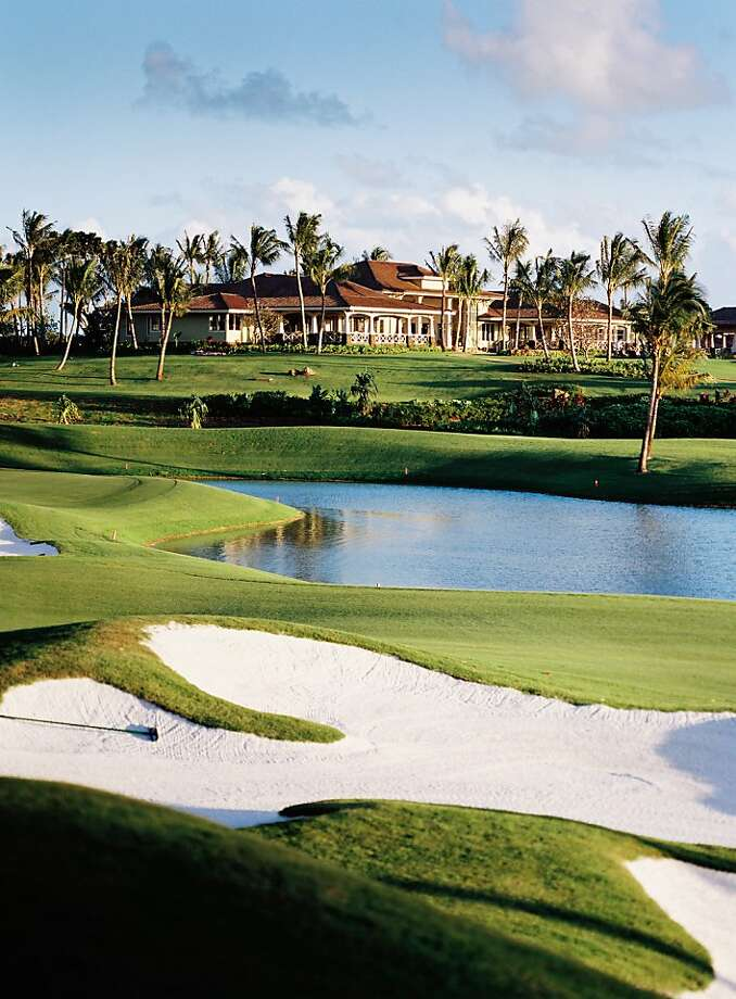 The resort community Kukuiula on Kauai features an 18-hole golf course, a clubhouse complex with restaurant, pools and spa, and a farm and lake stocked with peacock bass.