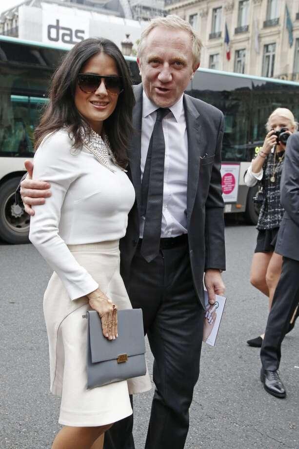 Salma Hayek, left, and her husband Francois-Henri Pinault Photo: Francois Mori, Associated Press